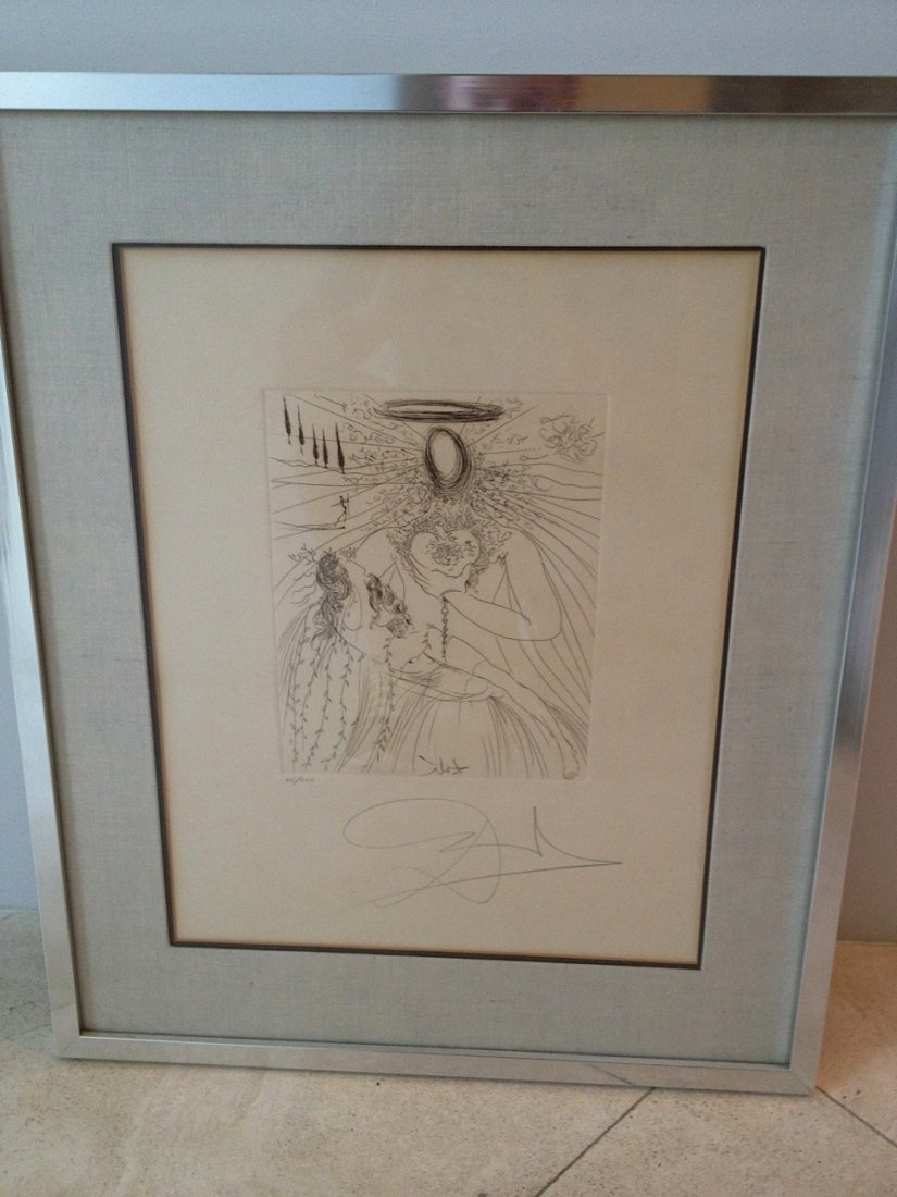 "Salvador Dali ""To Every Captive Soul"" etching"