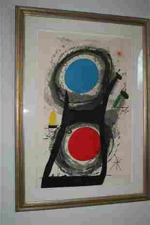 Joan Miro Etching Aquatint - L'Adorateur du Soleil 1969