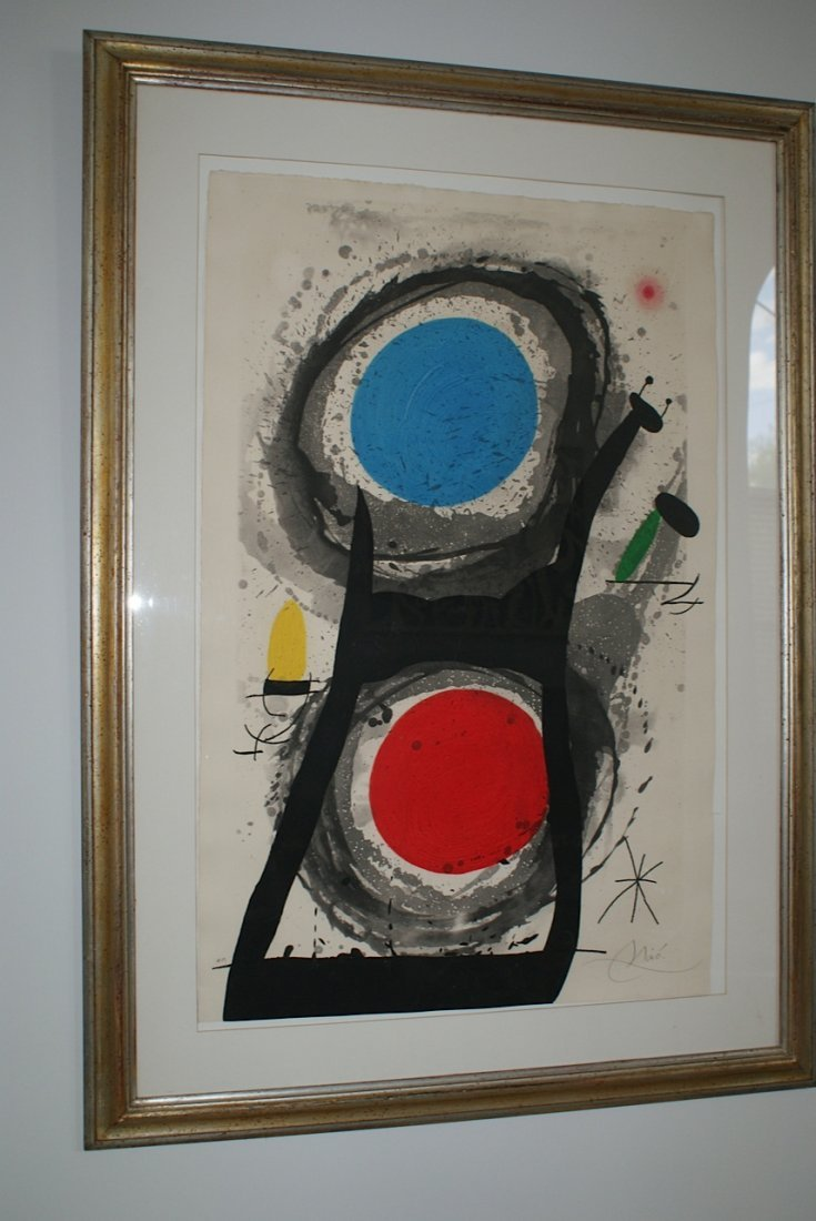 Joan Miro Etching Aquatint - L'Adorateur du Soleil 1969