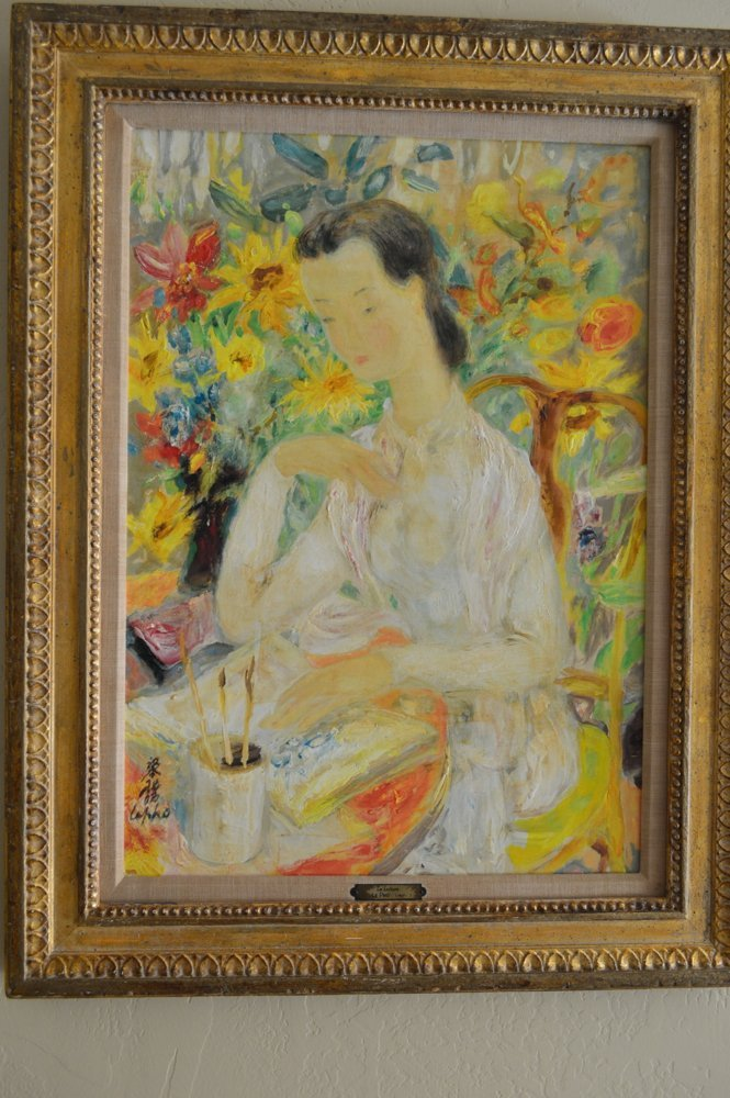 Le Pho (1907 - 2001) Early Portrait of Woman Painting