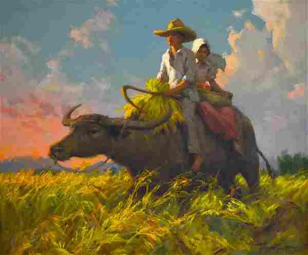 Fernando Amorsolo (1892 - 1972) Early Painting 1940