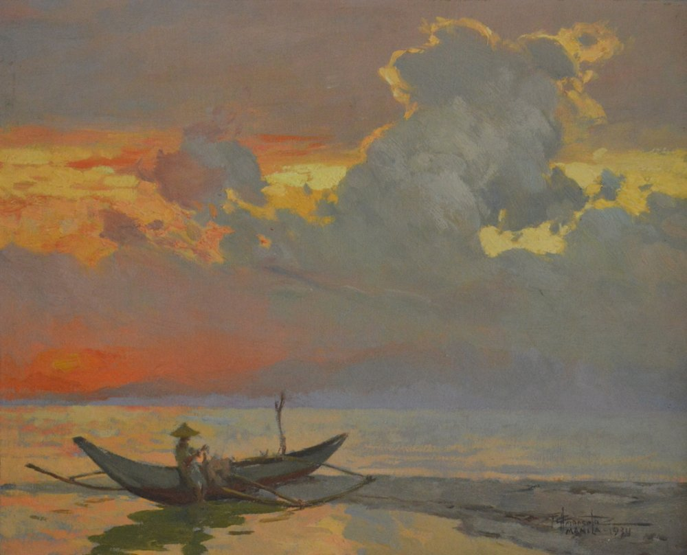 Fernando Amorsolo (1892 - 1972) Manila Bay Sunset 1934