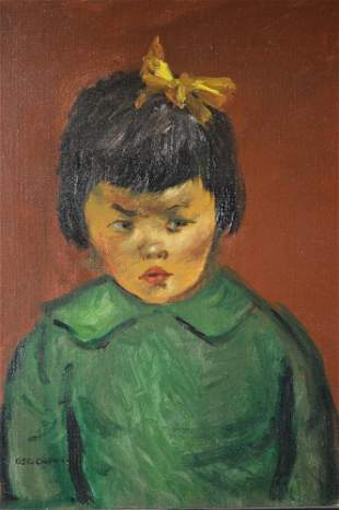 George Chann(Chinese/American (1913 - 1995) Portrait