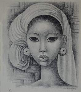 Miguel Covarrubias (Mexico 1904-1957) Balinese Girl