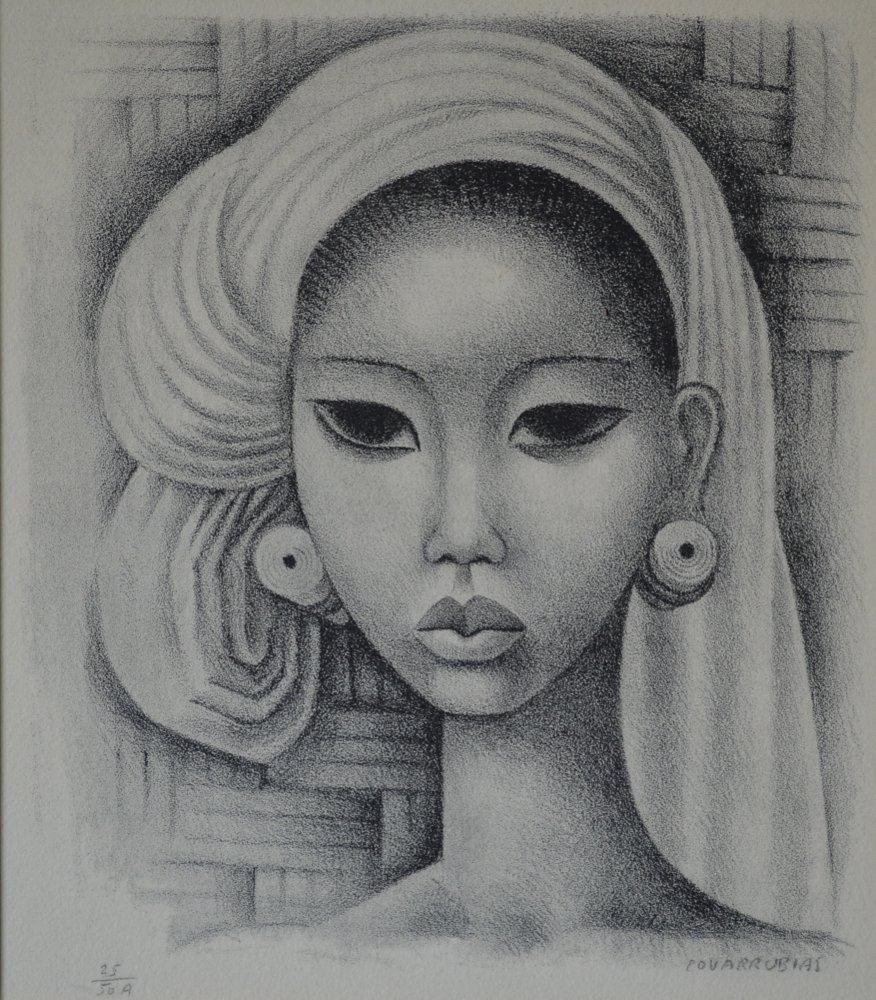 Miguel Covarrubias (Mexico 1904-1957) Balinese Girl