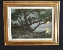 Fernando Amorsolo (Filipino/1892-1972) Sunset, 1939 O/B