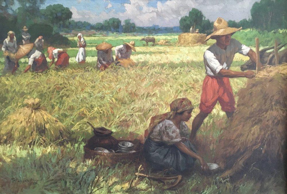 "Fernando Amorsolo (1892-1972) ""Harvest"", 1930 O/B"