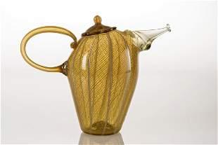 Richard Marquis (b.1945) Amber Zanfirico Teapot