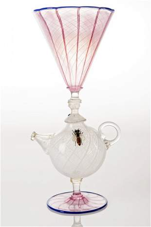 Richard Marquis (b.1945) Teapot Goblet with Glass Wasp