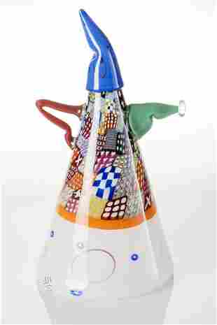 Richard Marquis (b.1945) Wizard Teapot with Blue Hat