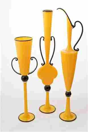 Dante Marioni (b.1964) Yellow and Black Trio