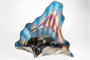 Dale Chihuly (b.1941) 8 Piece Cerulean Blue Persian Set