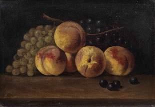 19th Century American School Still Life of Fruit