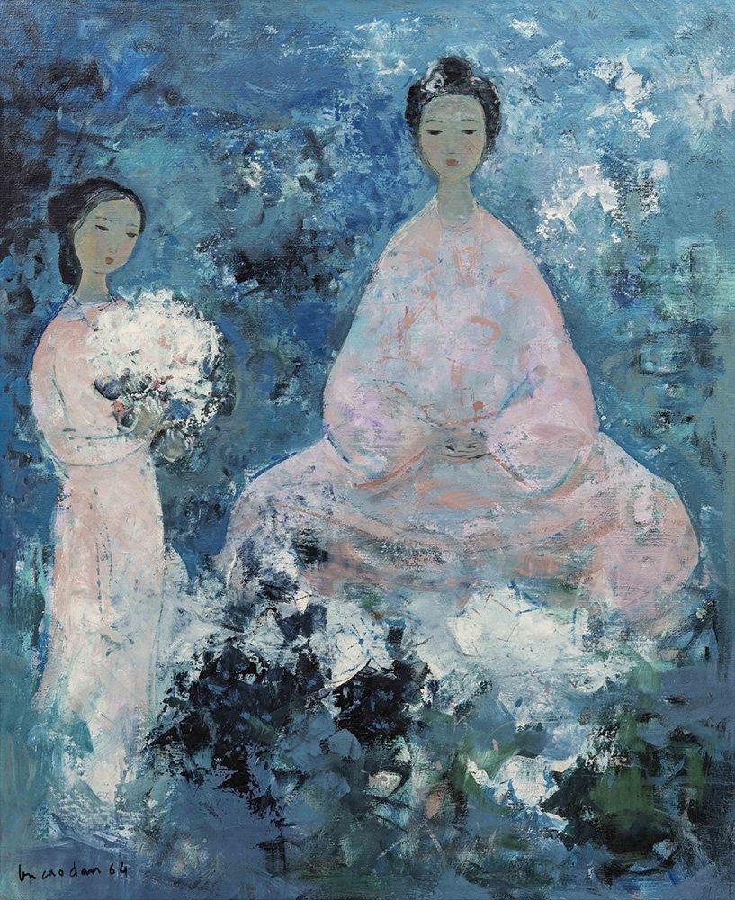 """Vu Cao Dam (1908-2000) """"L'Offrande"""", 1964"""