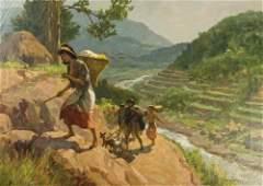 Fernando Amorsolo (1892-1972) �Rice Harvesting�, 1956