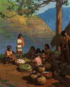 "Fernando Amorsolo (1892-1972) ""The Gathering"", 1933"