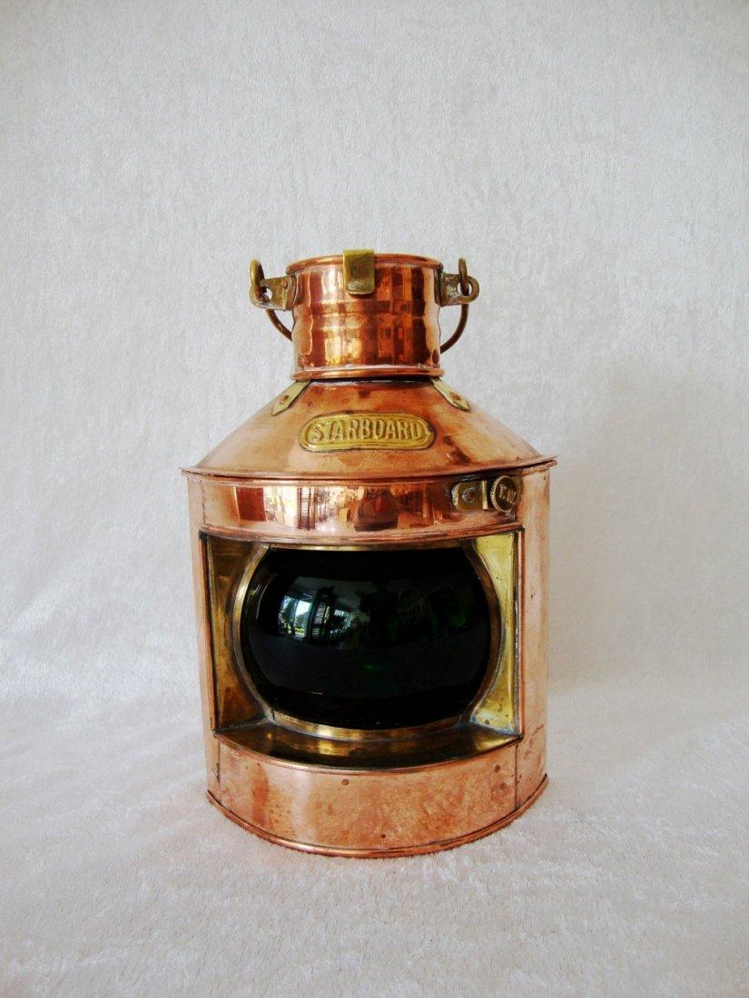 Copper/Brass Tung Woo StarBoard oil lantern, Hong Kong