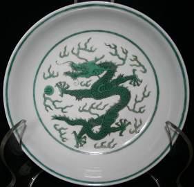 Chinese porcelain dragon dish