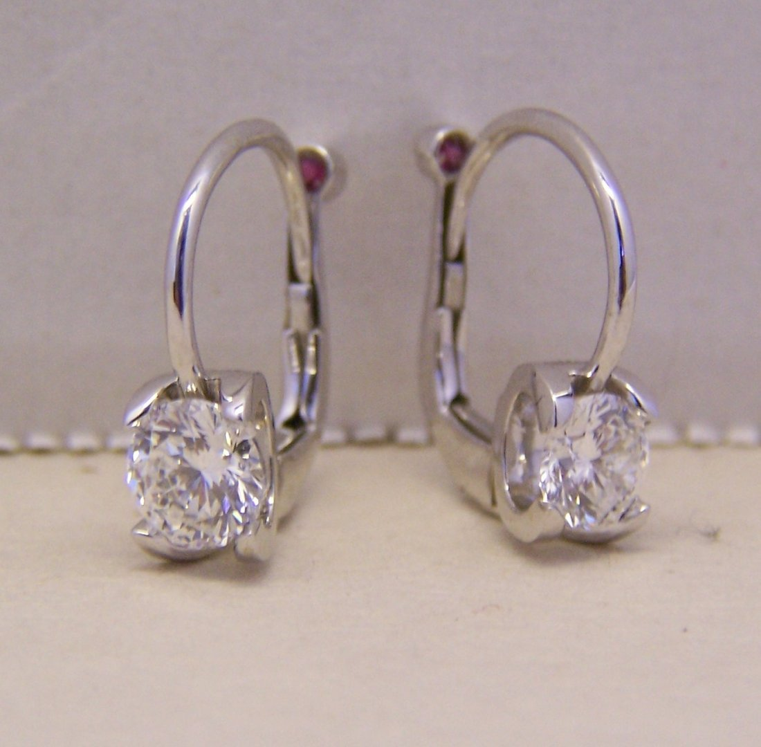 Roberto Coin Cento Eurowire 18k Diamond Earrings 1.15Ct