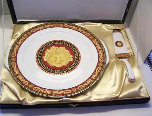 CASA ELITE HOME COLLECTIONS porcelain cake pie plate