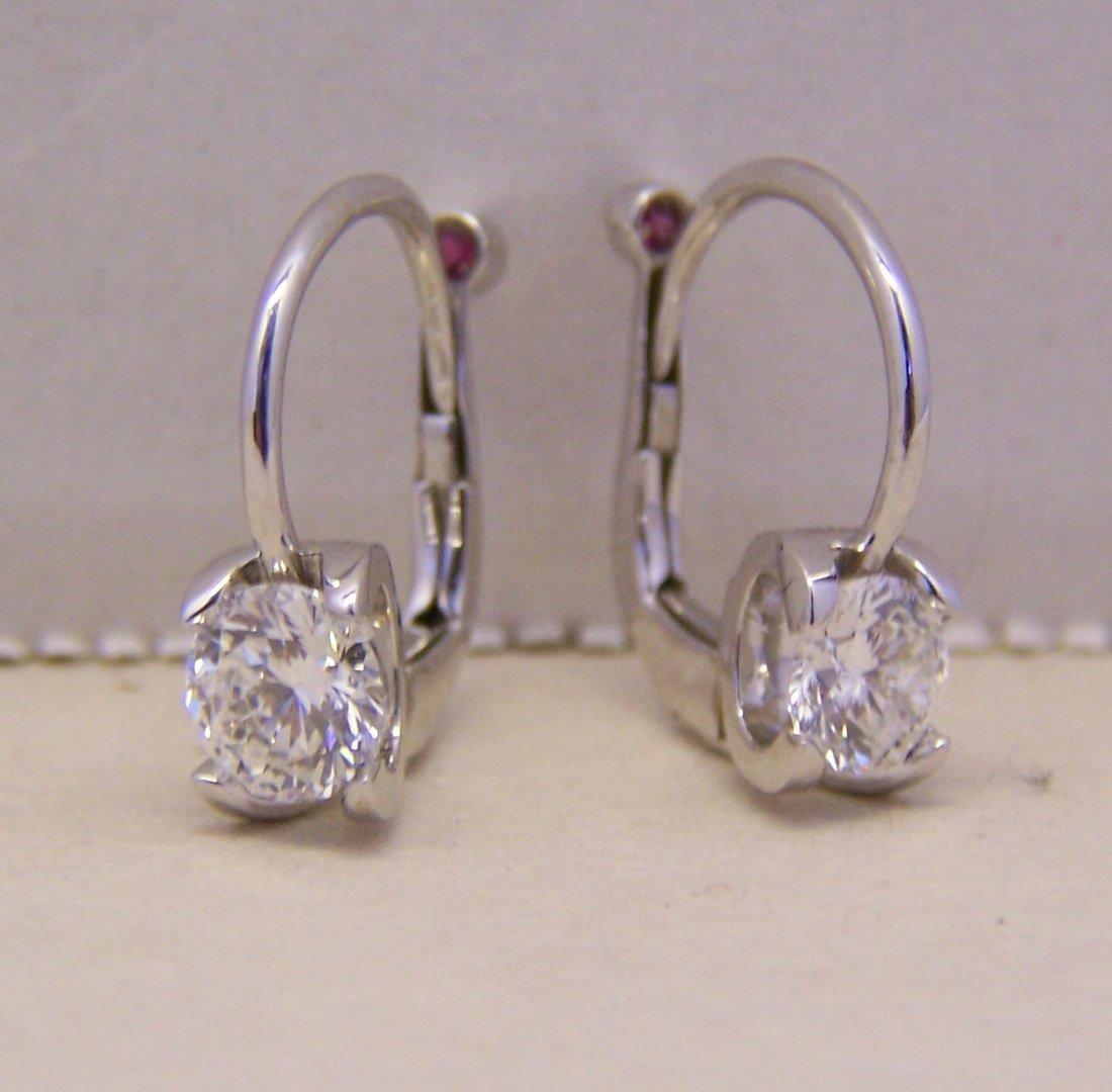 Roberto Coin Cento Eurowire 18k Diamond Earrings 1.15Ct