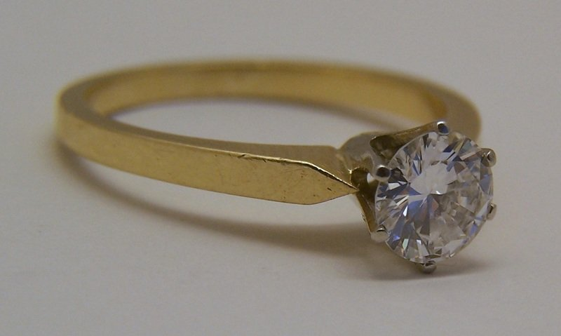 18k 3/4 Ct .75 carat VVS2 D/F diamond solitaire ring - 2