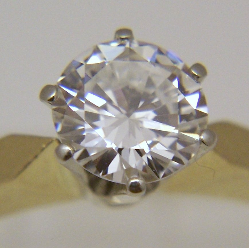 18k 3/4 Ct .75 carat VVS2 D/F diamond solitaire ring - 6