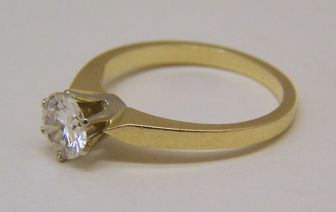 18k 3/4 Ct .75 carat VVS2 D/F diamond solitaire ring - 8