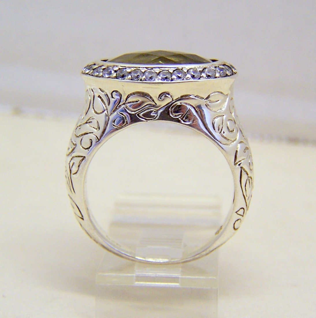 SEIDENGANG sterling silver lemon quartz Cz ring - 3
