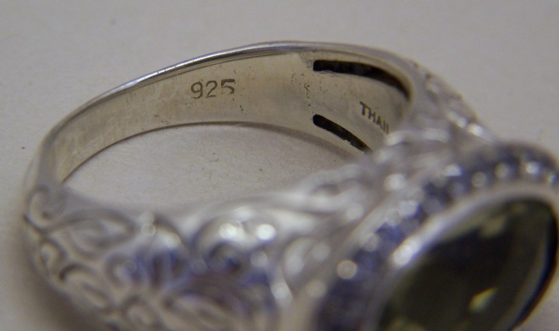 SEIDENGANG sterling silver lemon quartz Cz ring - 5