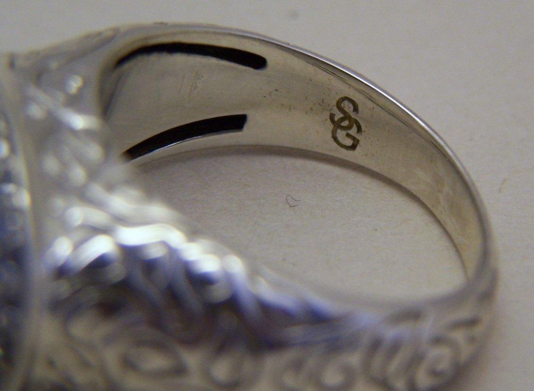 SEIDENGANG sterling silver lemon quartz Cz ring - 6