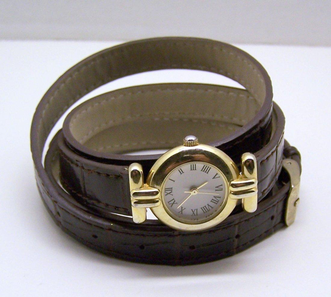 KIMCHI BLUE gold tone watch belt bracelet