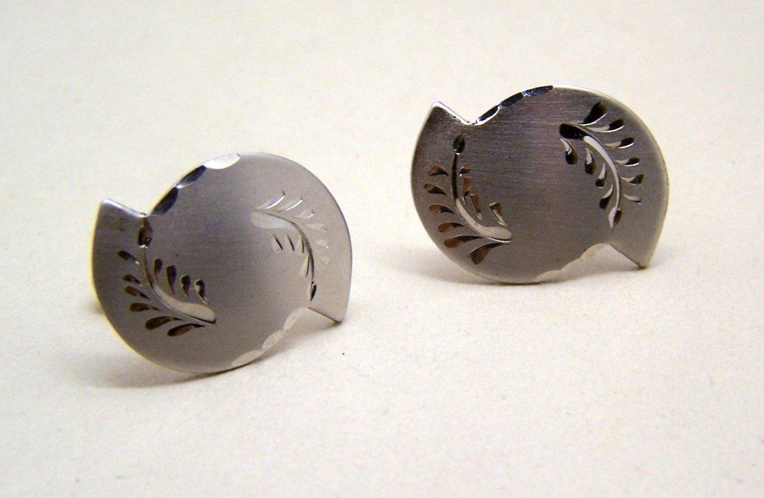 PRK sterling silver cufflinks set