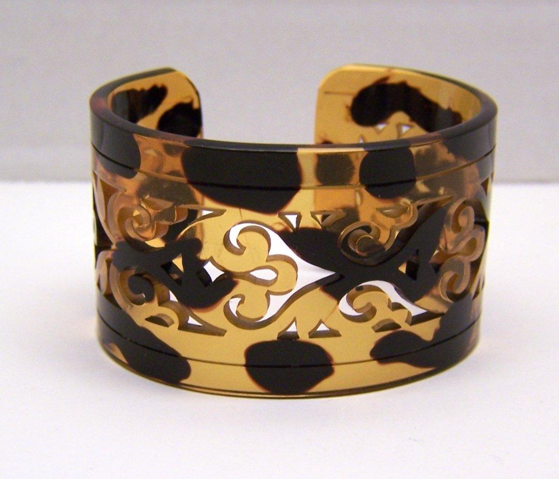 vintage tortoise shell lucite cuff bracelet