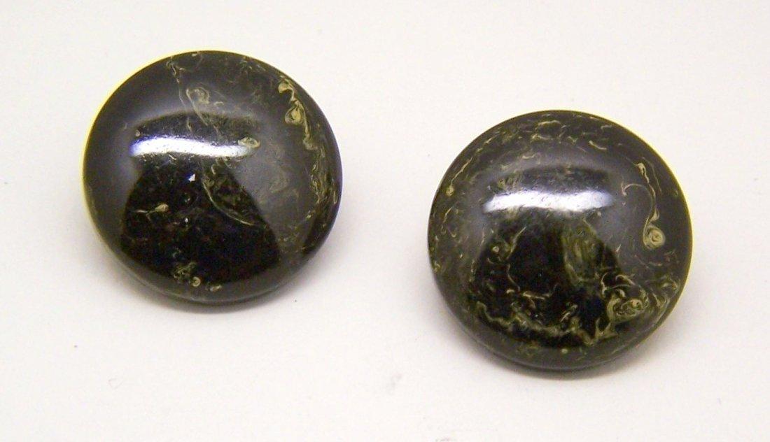 vintage bakelite clip on earrings