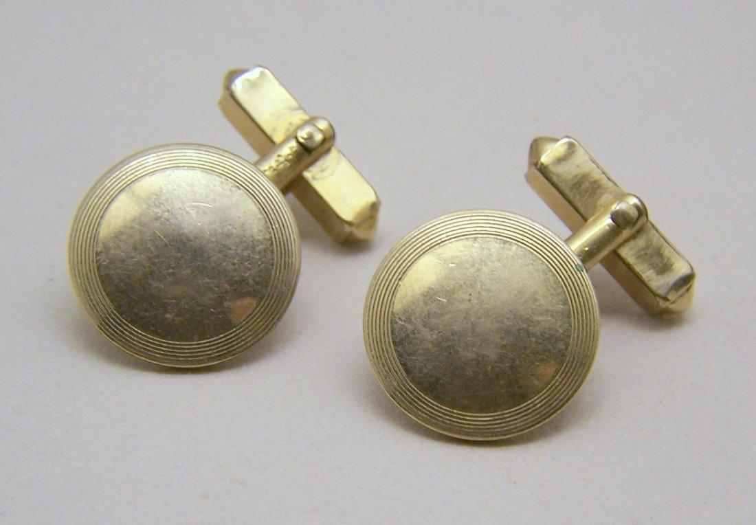 SWANK gold filled cufflinks set
