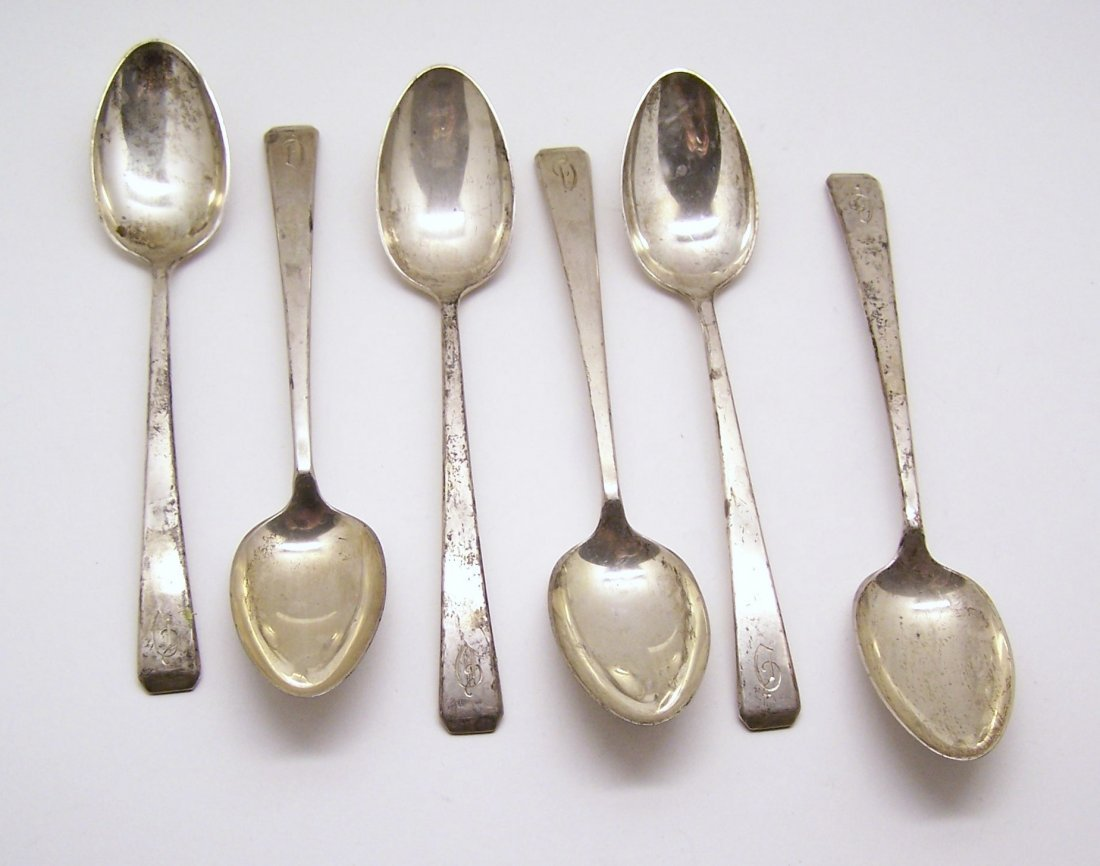 set of 6 craftsman Towle sterling silver spoon lot 168g
