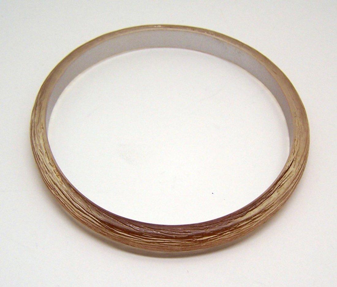 carved lucite bangle bracelet