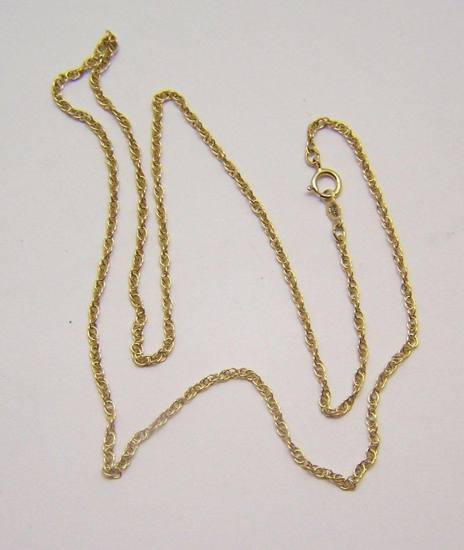 vintage vermeil sterling silver chain