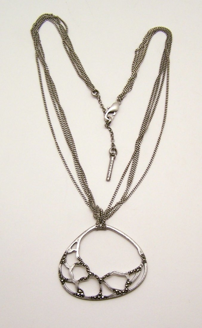 KENNETH COLE REACTION marcasite silver tone necklace