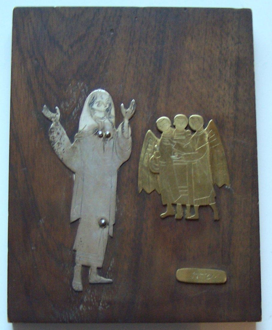Mexico Talleres Monastico sterling religious plaque