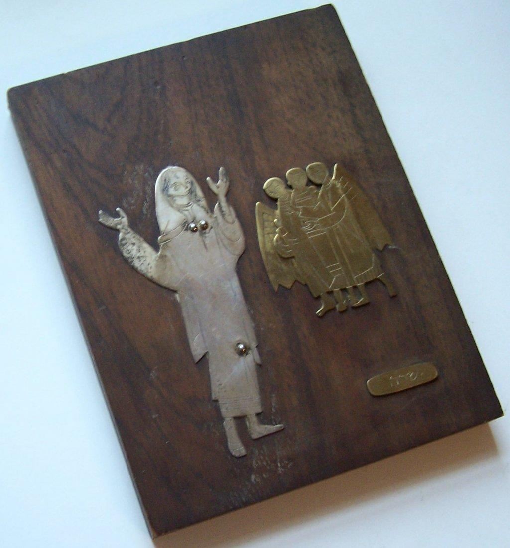 Mexico Talleres Monastico sterling religious plaque - 2