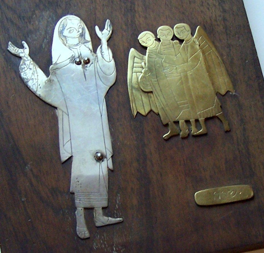 Mexico Talleres Monastico sterling religious plaque - 3