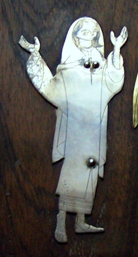 Mexico Talleres Monastico sterling religious plaque - 4