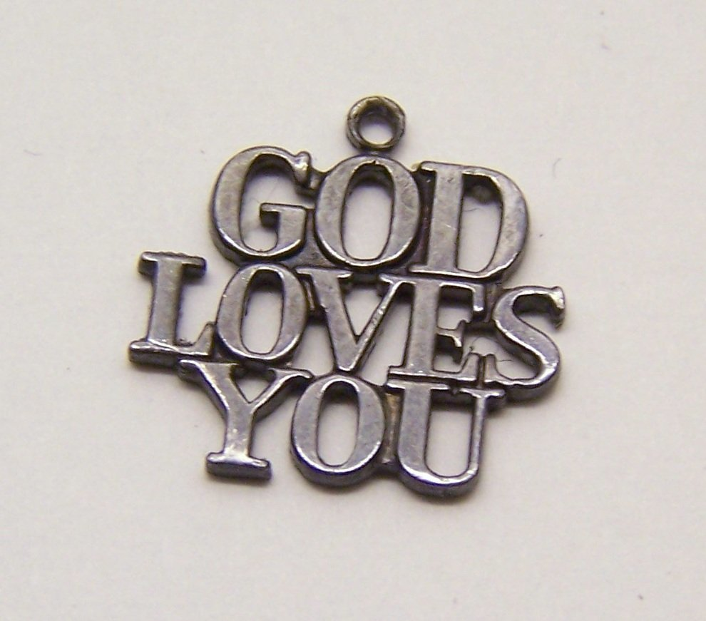 Tiffany & co God Loves You sterling charm bracelet