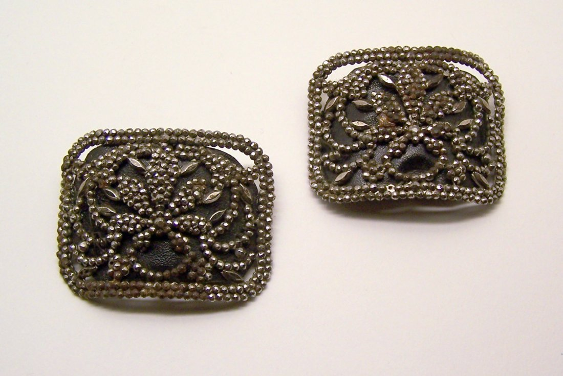 Antique Pair of Cut Steel Shoe Buckles