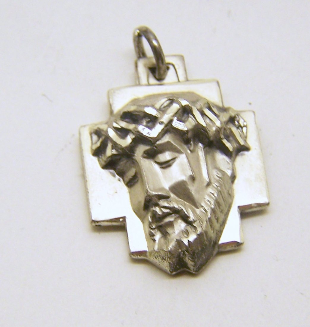 CREED sterling silver Jesus face pendant
