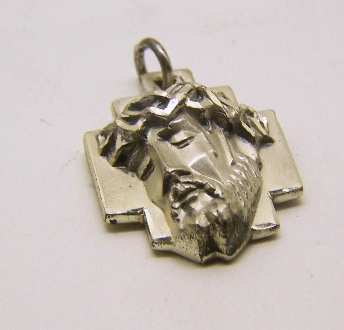 CREED sterling silver Jesus face pendant - 2