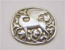 830 silver GEORG JENSEN brooch pin