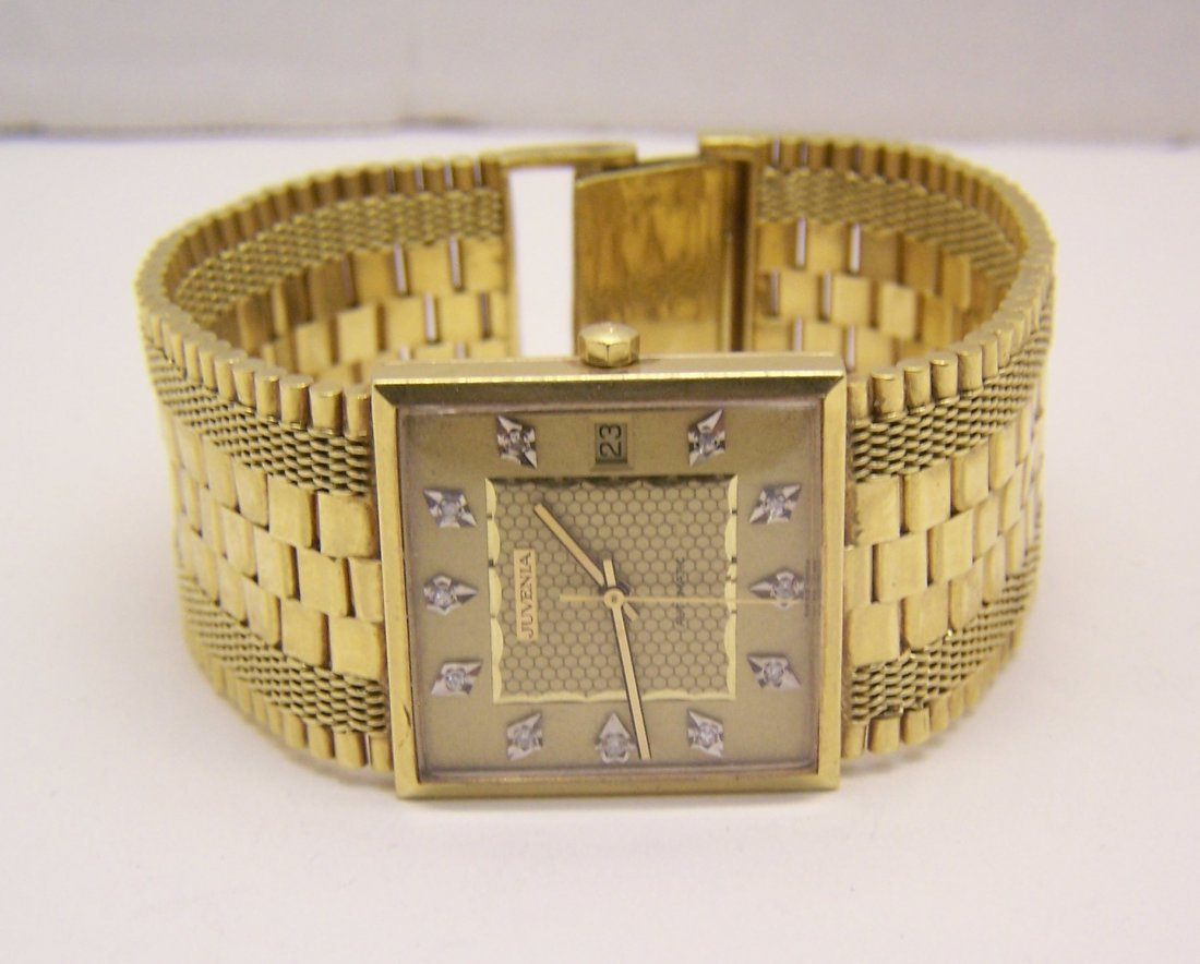 juvenia Macho 18k gold men automatic watch - 3